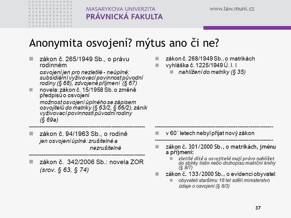 Anonymita osvojení mýtus ano či ne