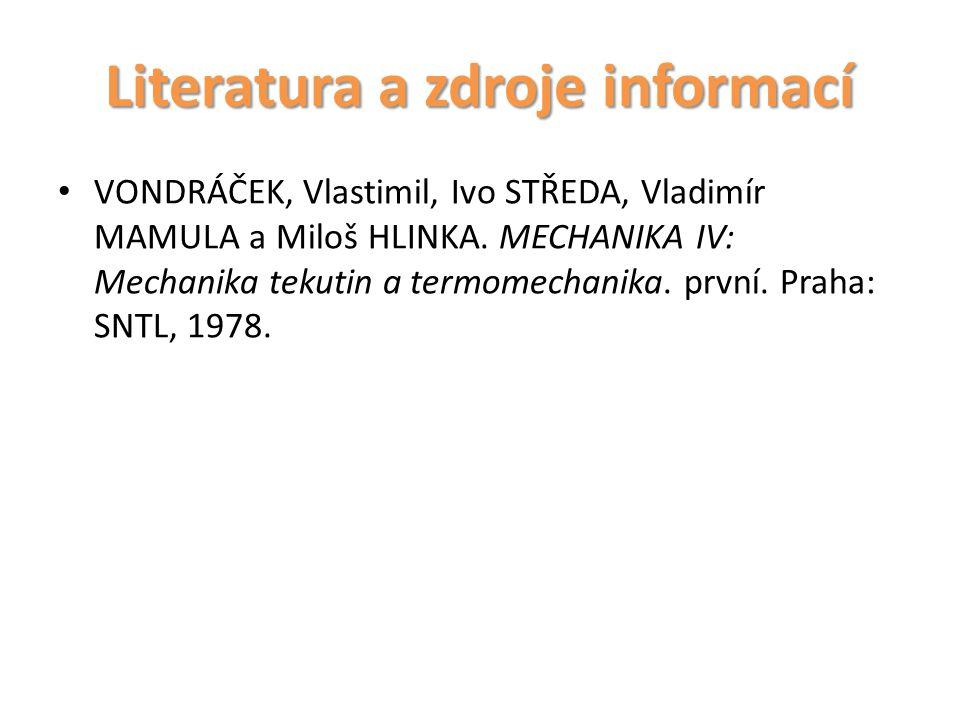 Literatura a zdroje informací