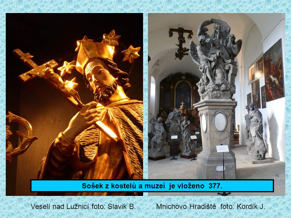 Sošek z kostelů a muzeí je vloženo 377.