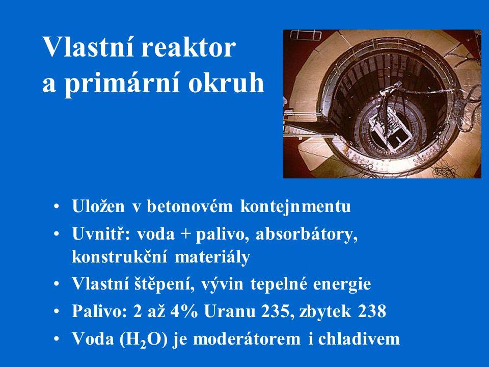 Vlastní reaktor a primární okruh