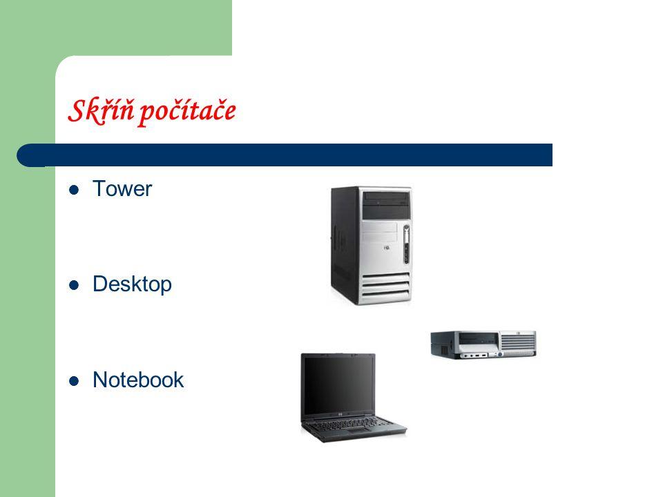 Skříň počítače Tower Desktop Notebook