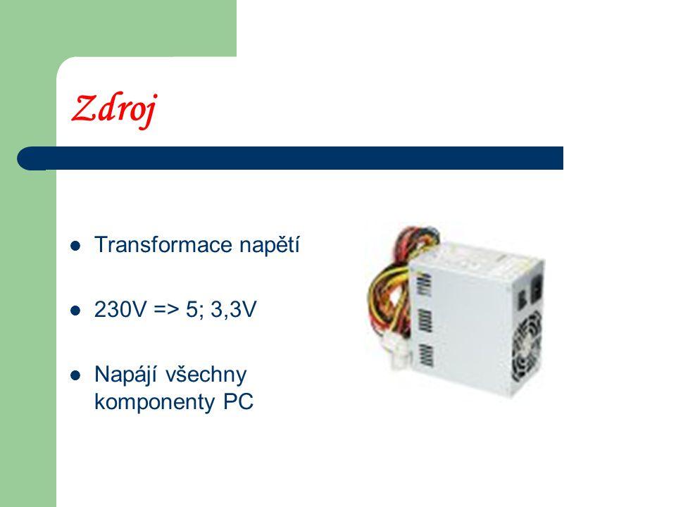 Zdroj Transformace napětí 230V => 5; 3,3V