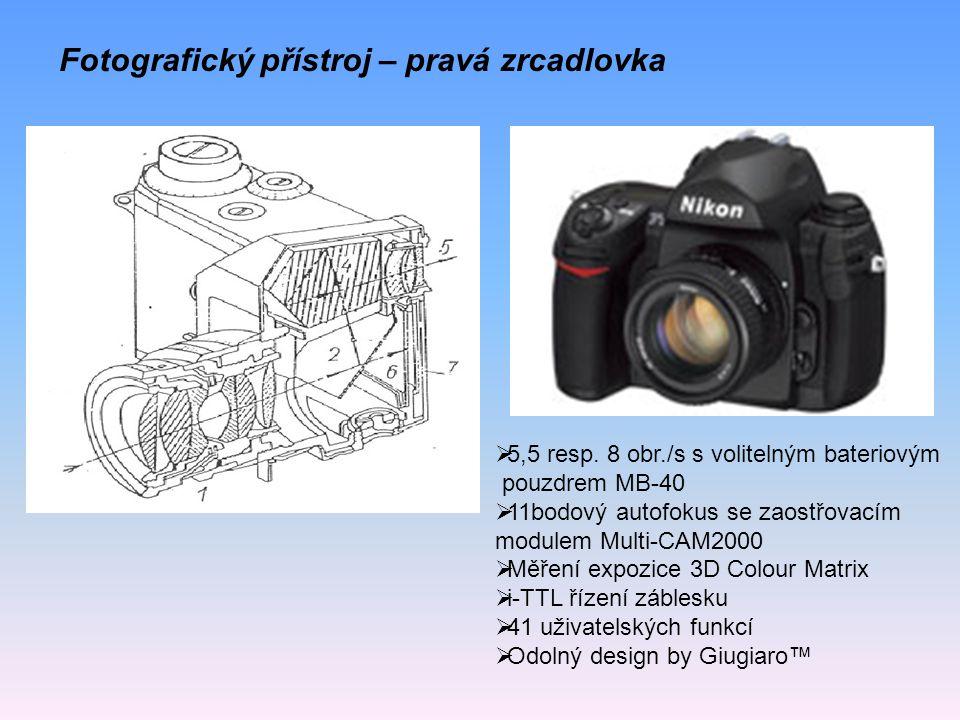 Fotografický přístroj – pravá zrcadlovka