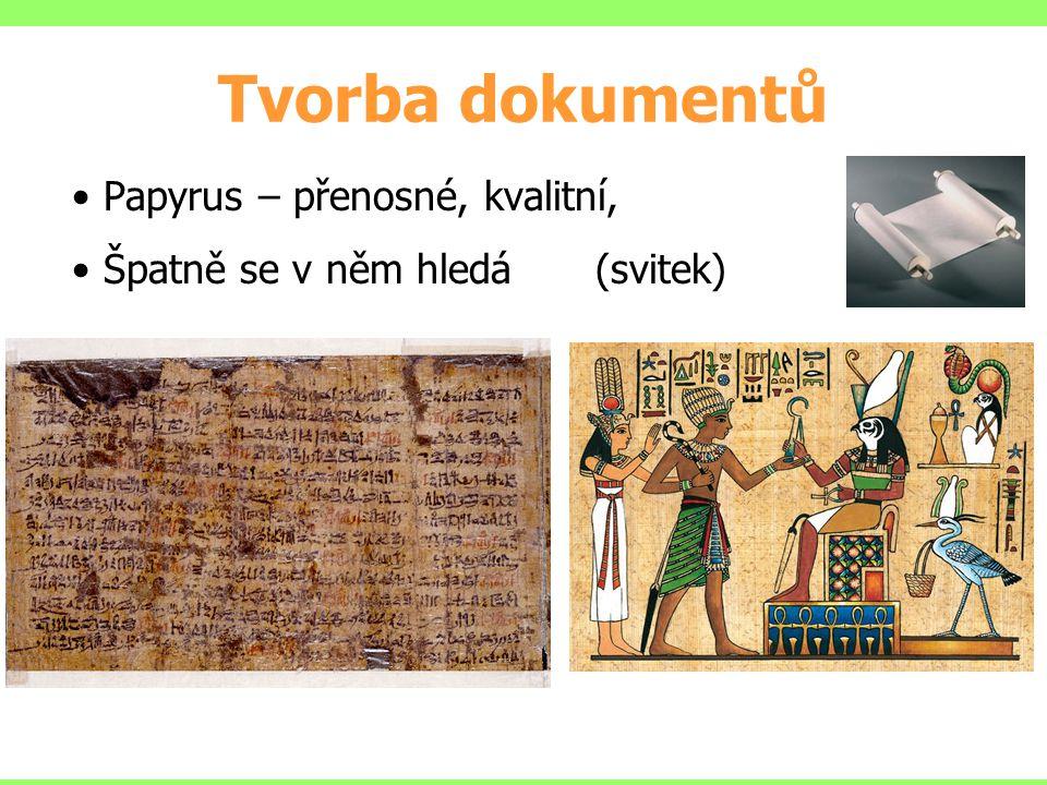 Tvorba dokumentů Papyrus – přenosné, kvalitní,