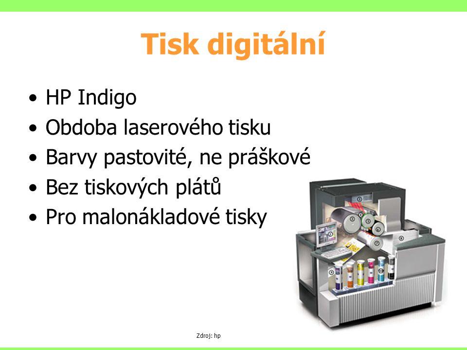Tisk digitální HP Indigo Obdoba laserového tisku
