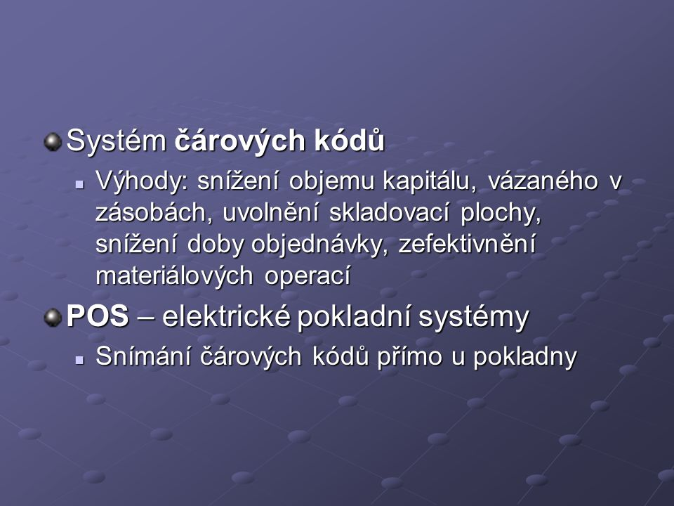 POS – elektrické pokladní systémy