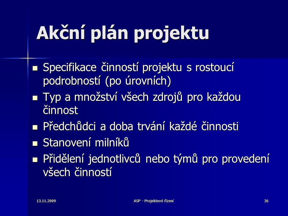 ASP - Projektové řízení