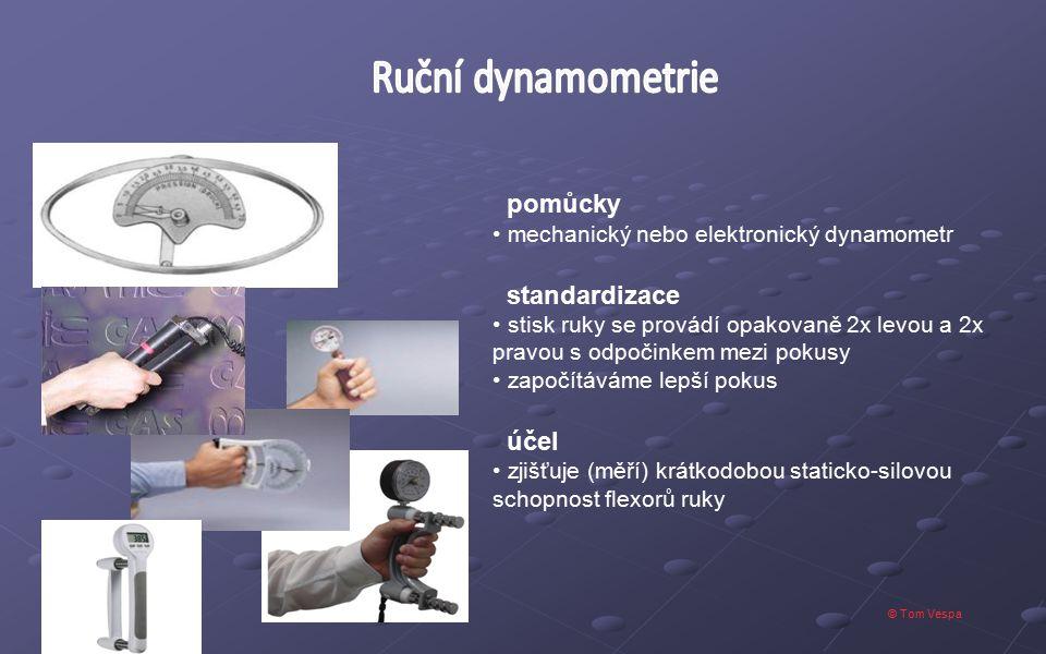 Ruční dynamometrie pomůcky standardizace účel