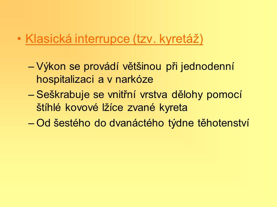 Klasická interrupce (tzv. kyretáž)