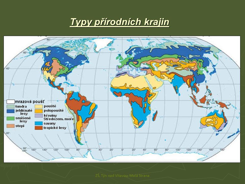 Typy přírodních krajin