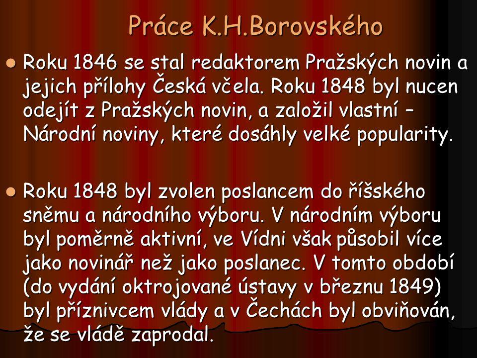 Práce K.H.Borovského