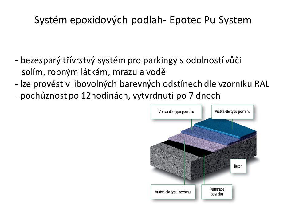 Systém epoxidových podlah- Epotec Pu System