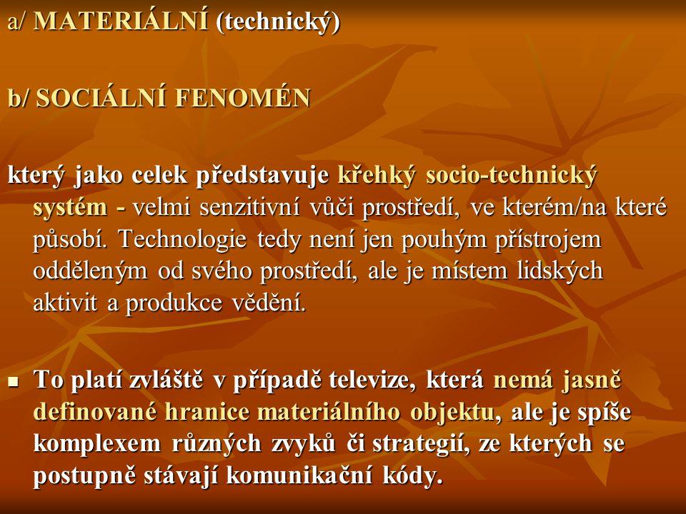 a/ MATERIÁLNÍ (technický)