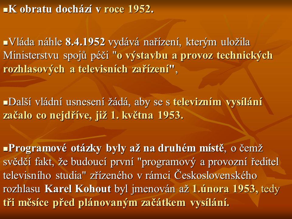 K obratu dochází v roce 1952.