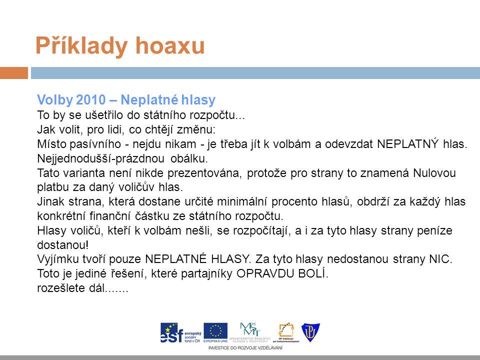 Příklady hoaxu Volby 2010 – Neplatné hlasy
