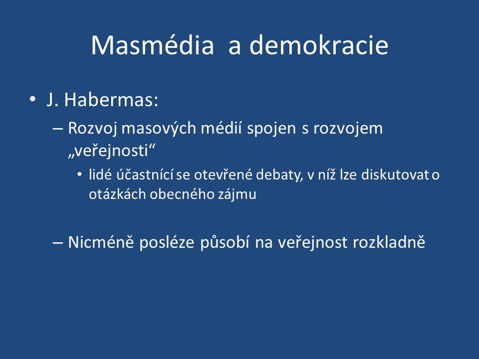 Masmédia a demokracie J. Habermas: