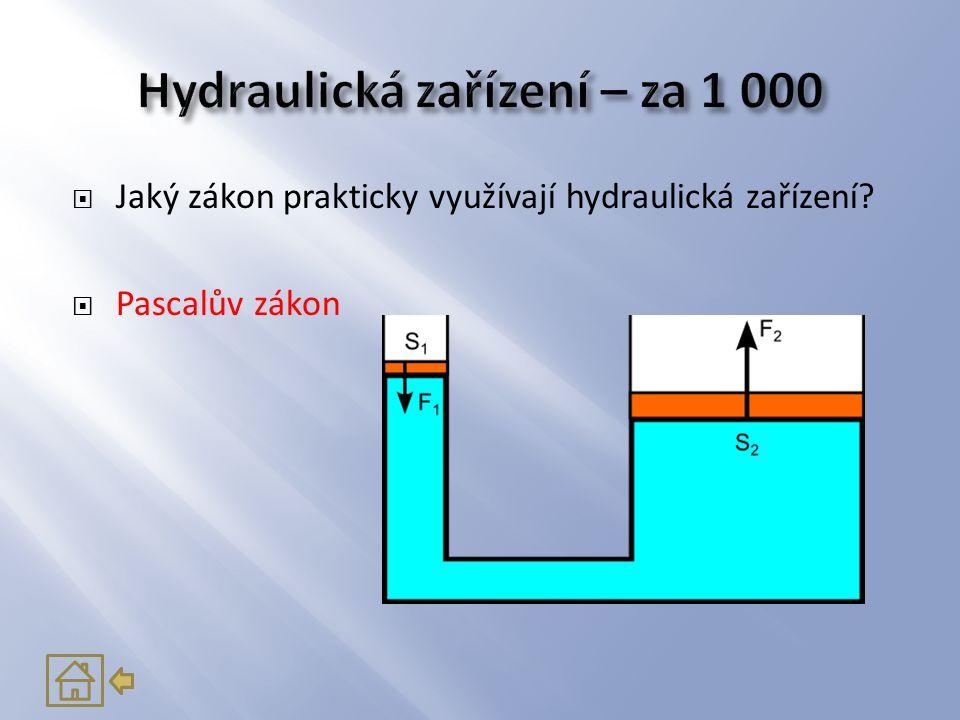 Hydraulická zařízení – za 1 000