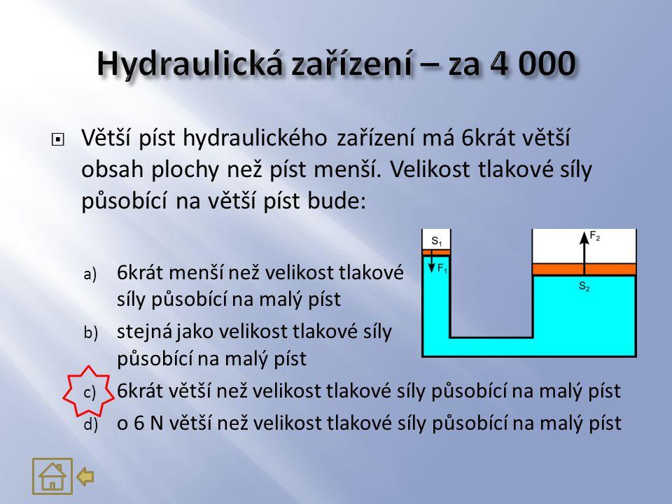 Hydraulická zařízení – za 4 000