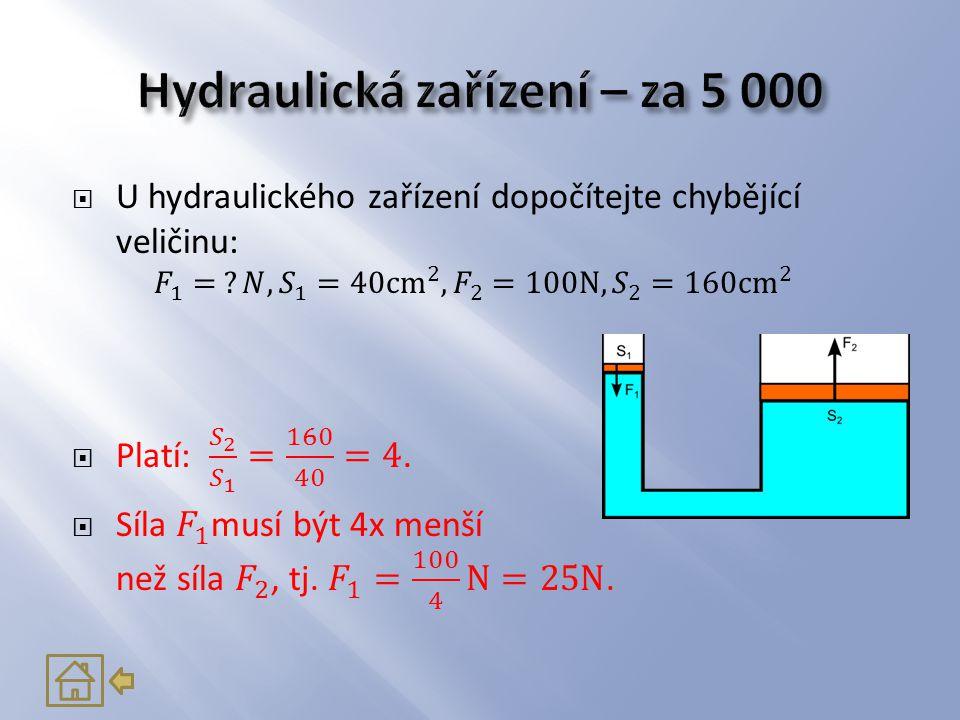 Hydraulická zařízení – za 5 000