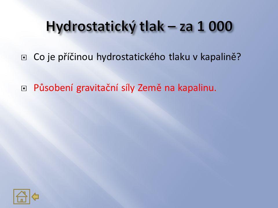 Hydrostatický tlak – za 1 000