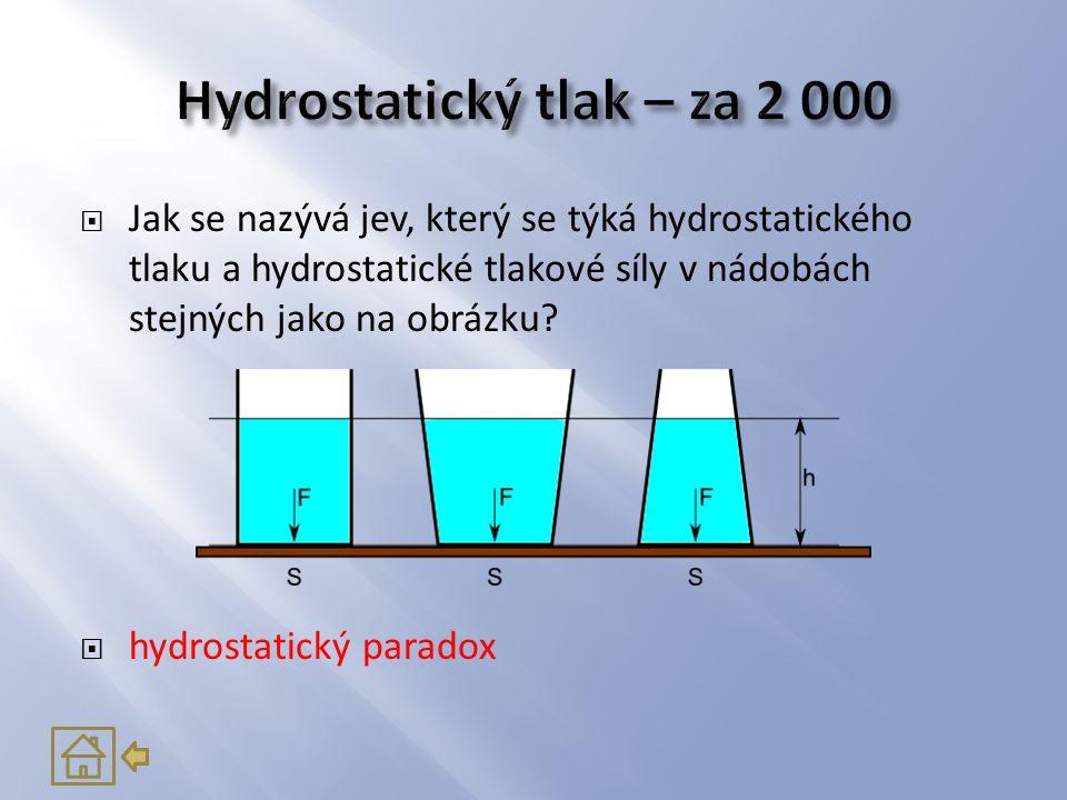Hydrostatický tlak – za 2 000