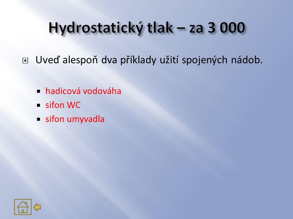 Hydrostatický tlak – za 3 000