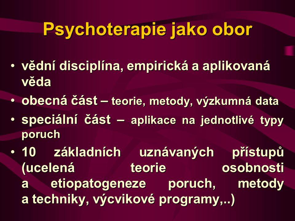 Psychoterapie jako obor