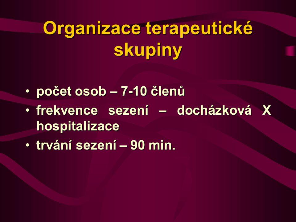Organizace terapeutické skupiny