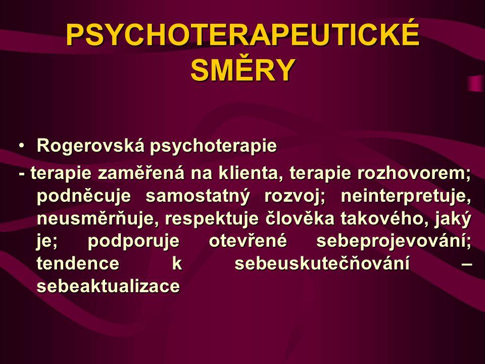 PSYCHOTERAPEUTICKÉ SMĚRY