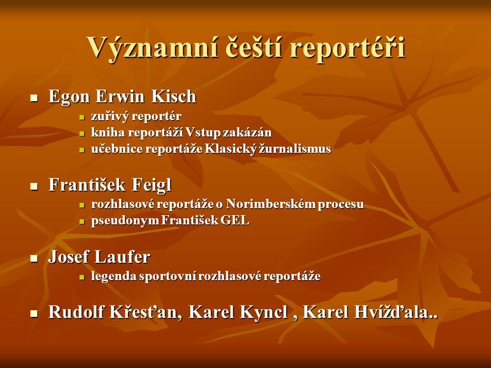Významní čeští reportéři