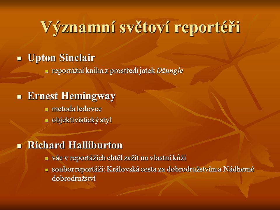 Významní světoví reportéři