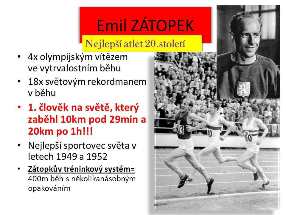 Emil ZÁTOPEK Nejlepší atlet 20.století