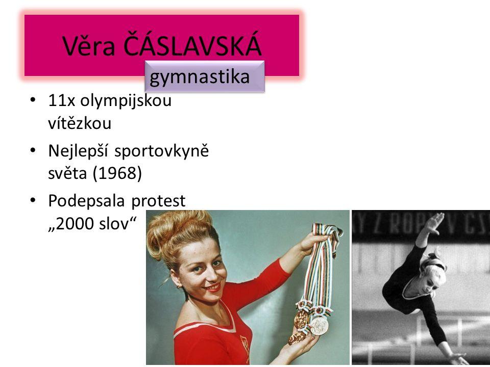 Věra ČÁSLAVSKÁ gymnastika 11x olympijskou vítězkou
