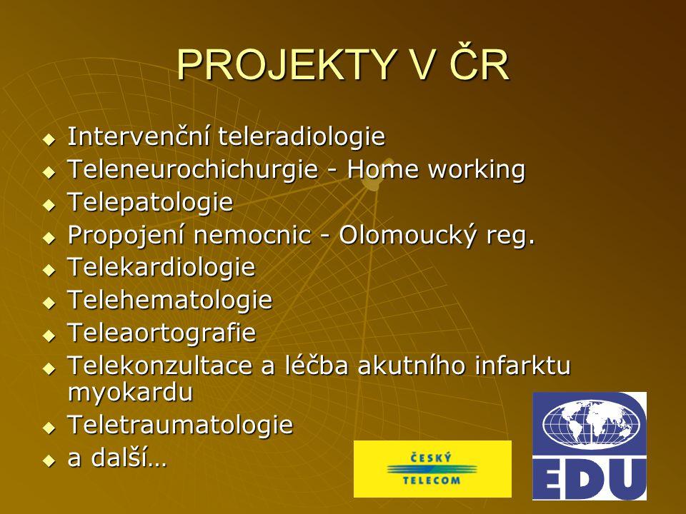 PROJEKTY V ČR Intervenční teleradiologie