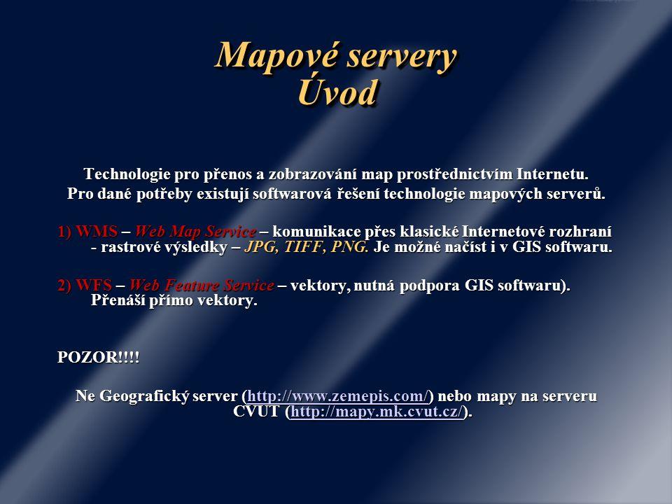 Technologie pro přenos a zobrazování map prostřednictvím Internetu.
