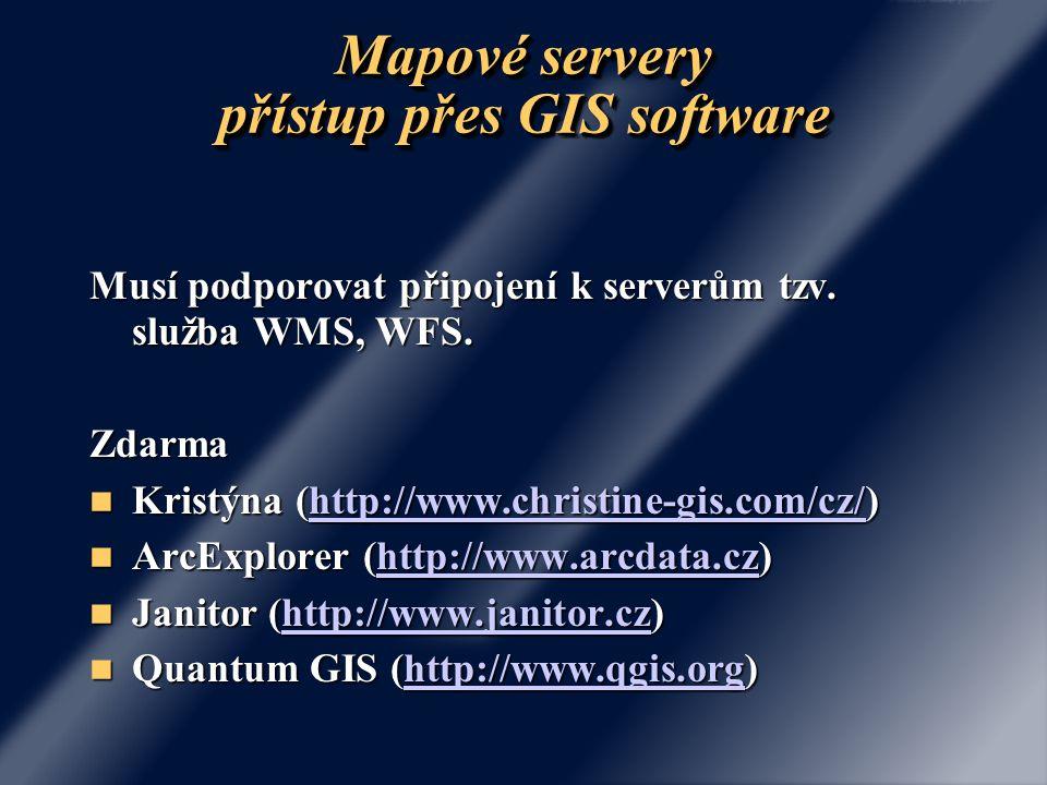 Mapové servery přístup přes GIS software