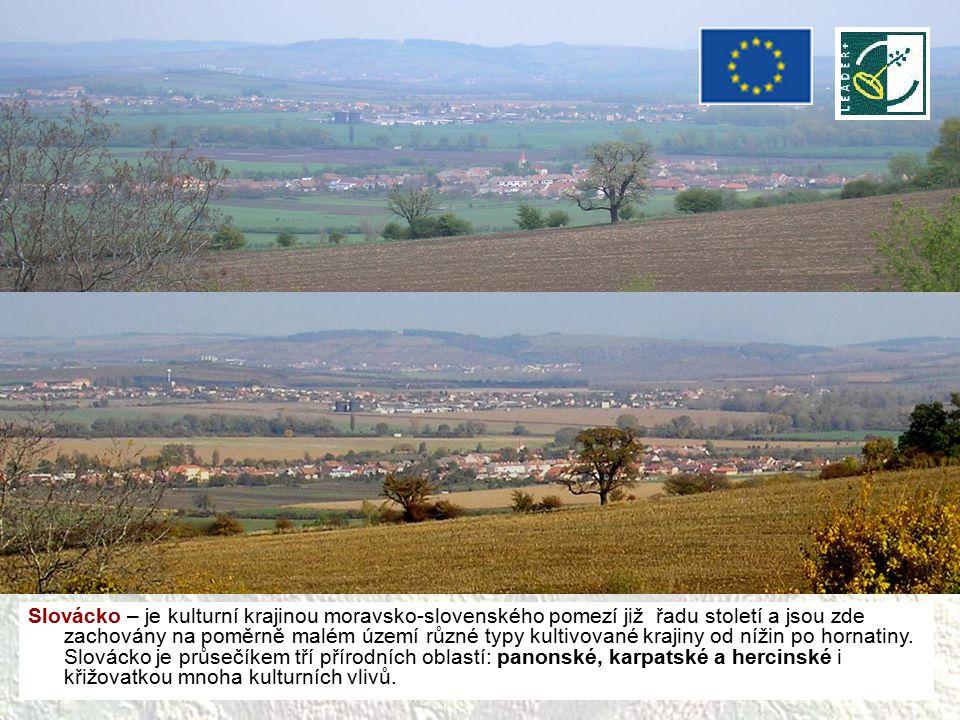 Slovácko – je kulturní krajinou moravsko-slovenského pomezí již řadu století a jsou zde zachovány na poměrně malém území různé typy kultivované krajiny od nížin po hornatiny.