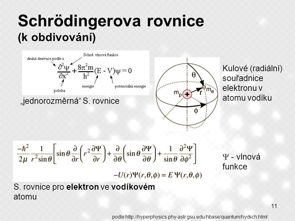 Schrödingerova rovnice (k obdivování)