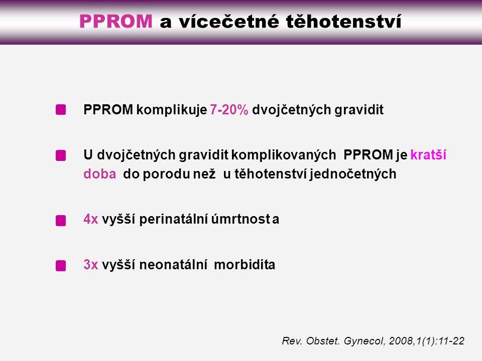 PPROM a vícečetné těhotenství