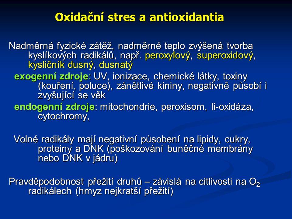 Oxidační stres a antioxidantia