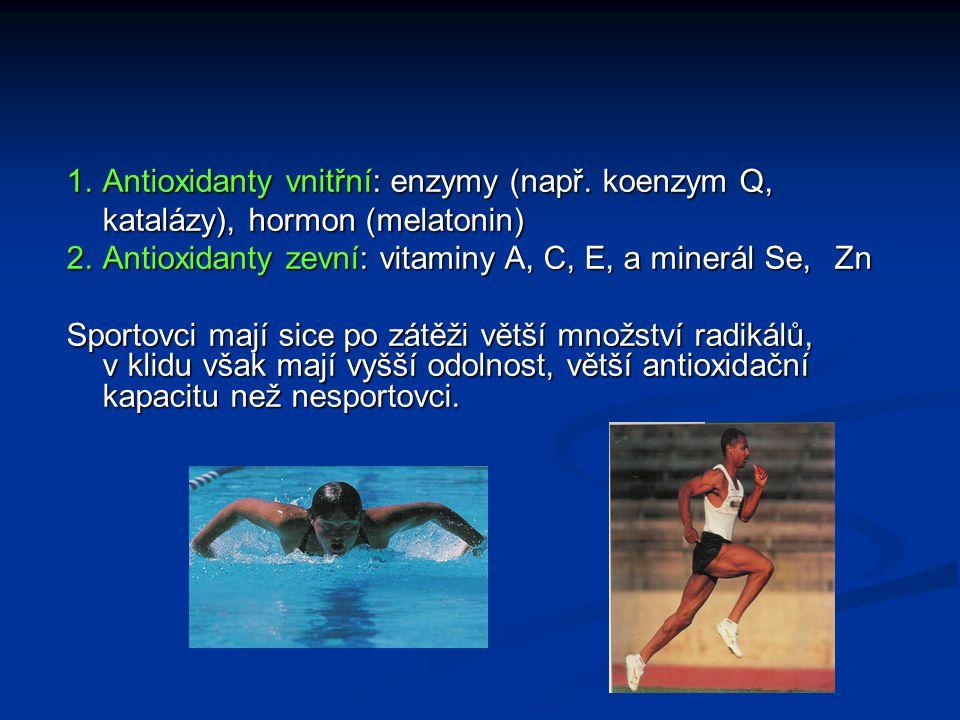Antioxidanty vnitřní: enzymy (např