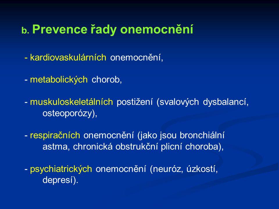 b. Prevence řady onemocnění