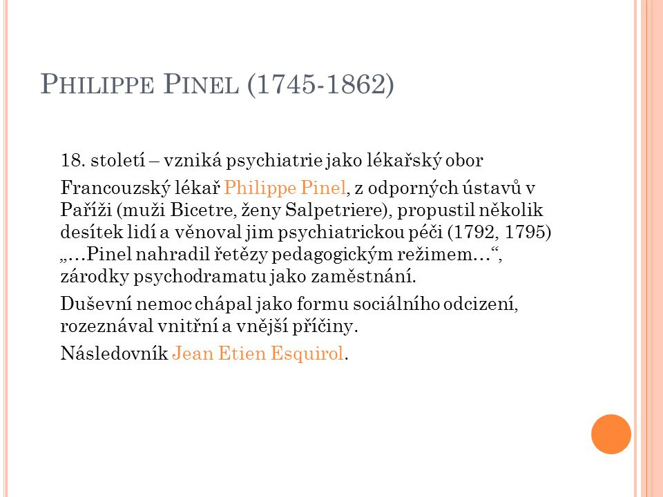 Philippe Pinel (1745-1862)