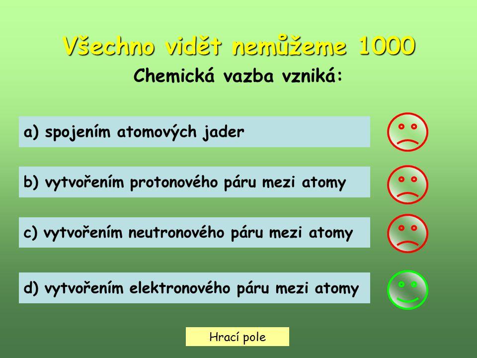 Všechno vidět nemůžeme 1000 Chemická vazba vzniká: