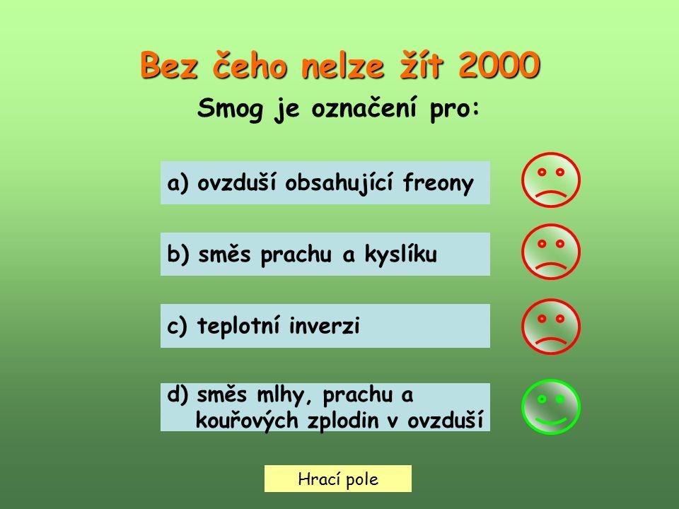 Bez čeho nelze žít 2000 Smog je označení pro: