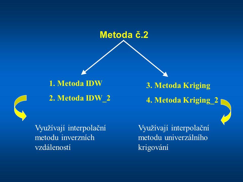 Metoda č.2 1. Metoda IDW 2. Metoda IDW_2 3. Metoda Kriging