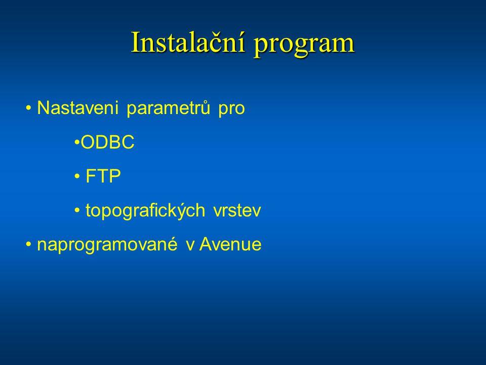 Instalační program Nastaveni parametrů pro ODBC FTP