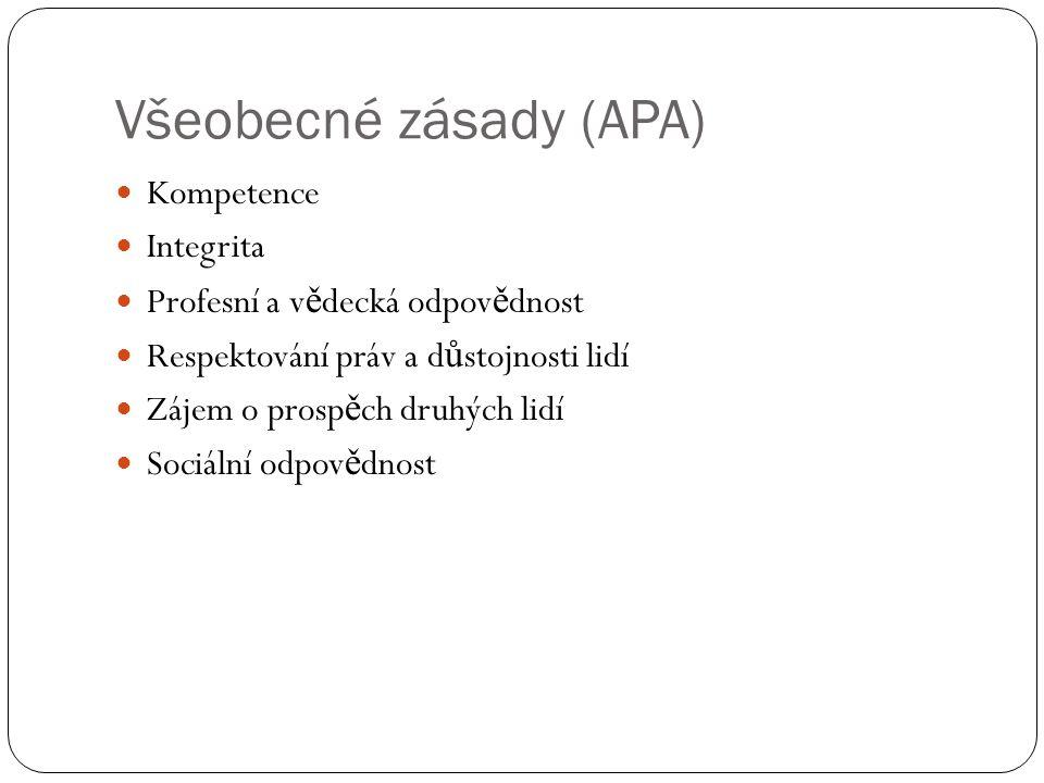 Všeobecné zásady (APA)