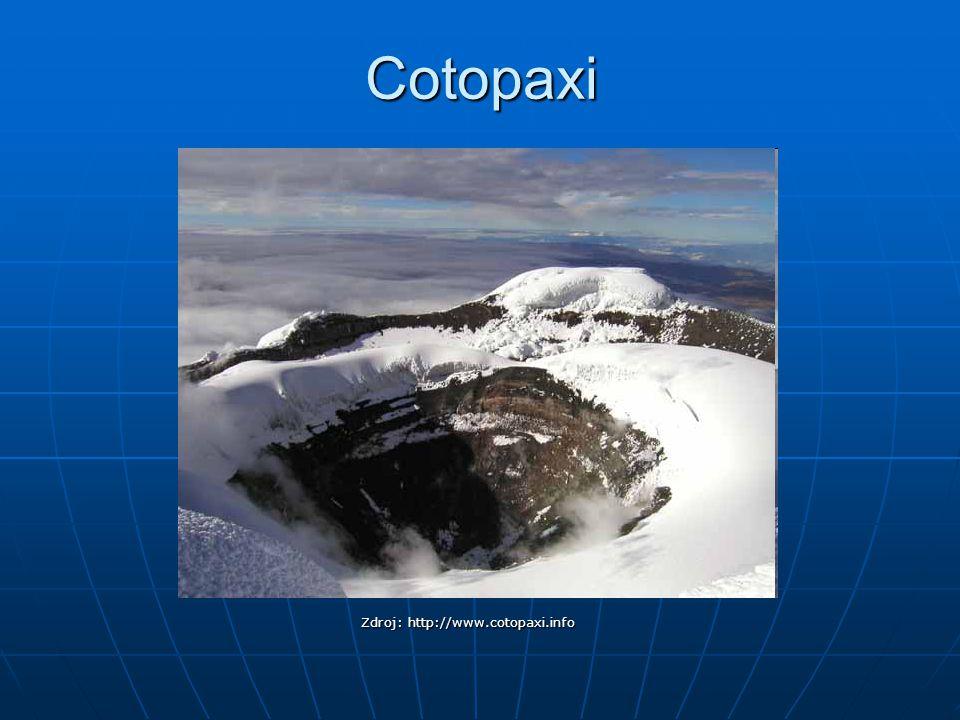 Cotopaxi Zdroj: http://www.cotopaxi.info