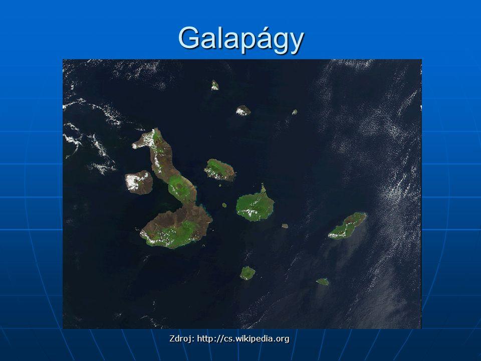 Galapágy Zdroj: http://cs.wikipedia.org